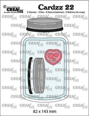 Crealies Cardzz no. 22 - Mason Jar