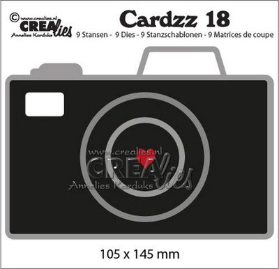 Crealies Cardzz no. 18 - Camera