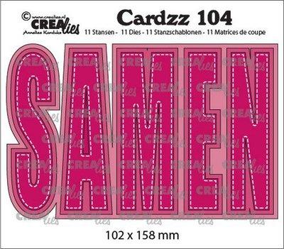 Crealies Cardzz no. 104 - Samen