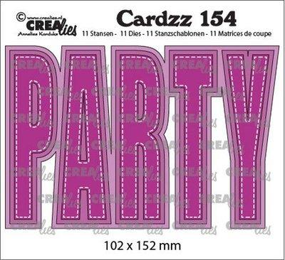 Crealies Cardzz no. 154 - Party