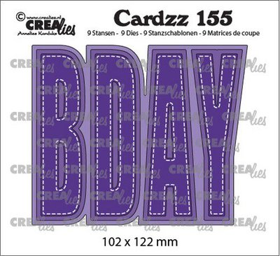 Crealies Cardzz no. 155 - Bday
