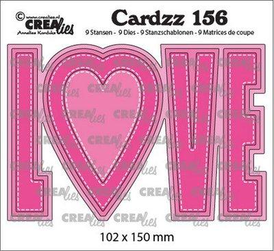Crealies Cardzz no. 156 - Love