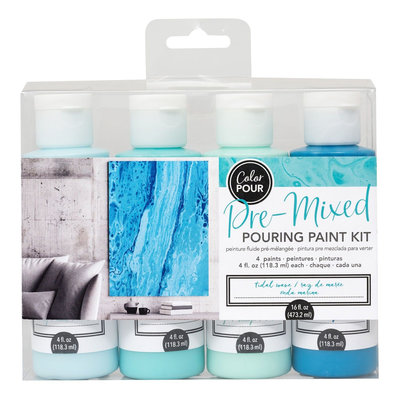 American Crafts Pouring Paint Kit - Tidal