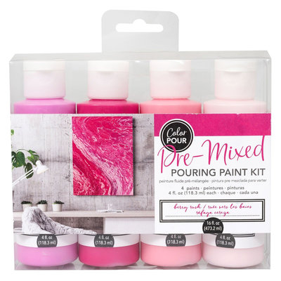 American Crafts Pouring Paint Kit - Berry