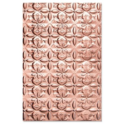 Sizzix 3-D Textured Impressions Embossing Folder - Adorned Tile 664426