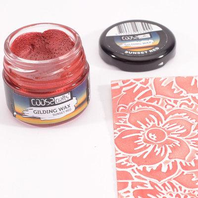 Coosa Crafts Gilding Wax - Twilight Sunset Red COWR-012