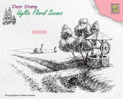 Nellie's Choice Clearstamp Idyllic - Well IFS021