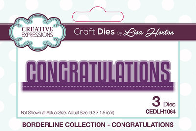 Creative Expressions Die - Congratulations