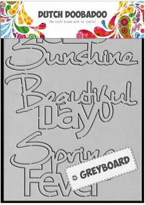 Greyboard Dutch Doobadoo - Hello Sunshine 492.002.001