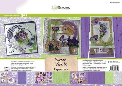 CraftEmotions Paper Pack A4 - Sweet Violets SALE