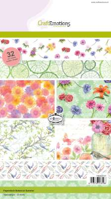 CraftEmotions Paper Pack A5 - Botanical Summer SALE