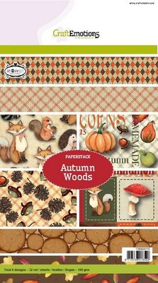 CraftEmotions Paper Pack A5 - Autumn Woods SALE
