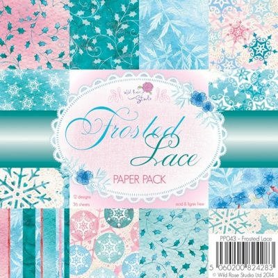 Wild Rose Studio Paper Pack 6 x 6 - Frosted Lace PP043 SALE