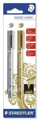 Staedtler Metallic Marker - Gold & Silver 8323-S BK2