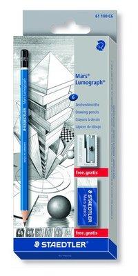 Staedtler Mars Lumograph Pencil - 6 pcs 61 100 C6