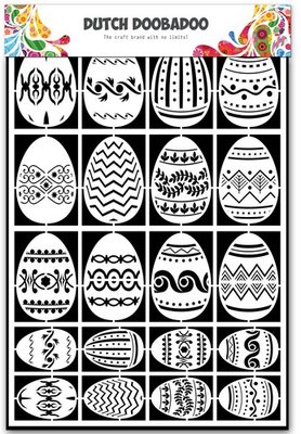 Dutch Doobadoo Paper Art - Easter Eggs 472.948.018
