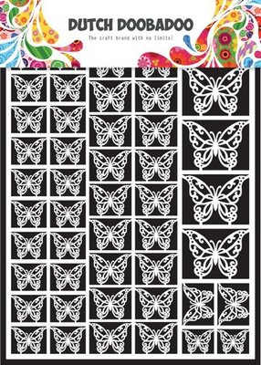 Dutch Doobadoo Paper Art - Butterflies 472.948.007