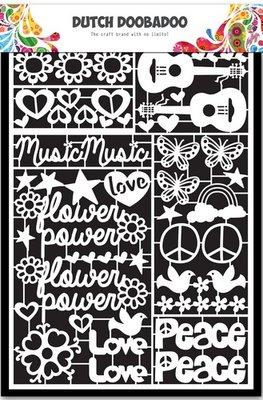 Dutch Doobadoo Paper Art - Flower Power 472.948.032 OP=OP