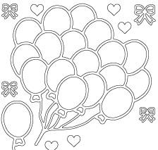 Stickervel - Balloons Zilver OP = OP