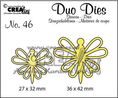 Crealies Duo Dies 46 - Vlinders 8 SALE