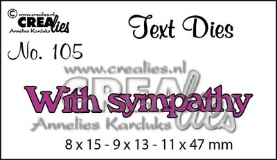 Crealies Text Die UK 105 - With Sympathy SALE