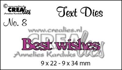 Crealies Text Die UK   8 - Best Wishes SALE