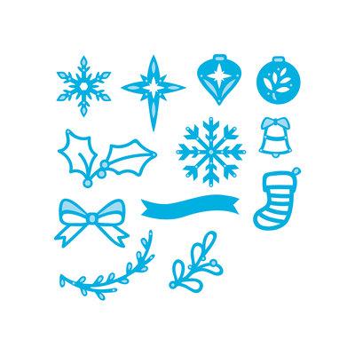 Tonic Studios Rococo Die Christmas - Mini Wreath Decorations 1384E SALE