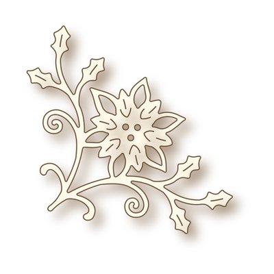 Wild Rose Studio Specialty Die - Poinsettia Corner SD033 SALE