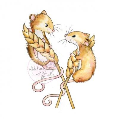 Wild Rose Studio Stempel - Harvest Mice CL493 OP = OP