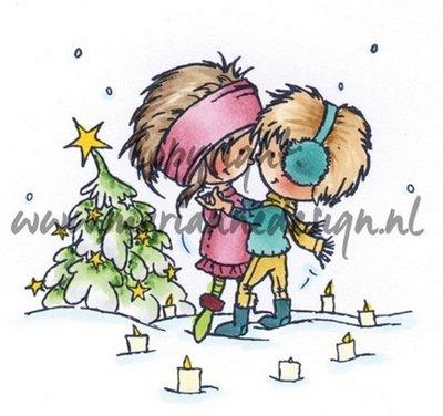 Marianne Design Stamp - A Christmas Romance DD3354