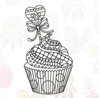 Marianne Design Stamp - Cupcake EWS2219
