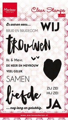 Marianne Design Stamp - Bruid & Bruidegom CS0974