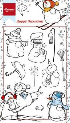 Marianne Design Stamp - Happy Snowmen HT1609 SALE