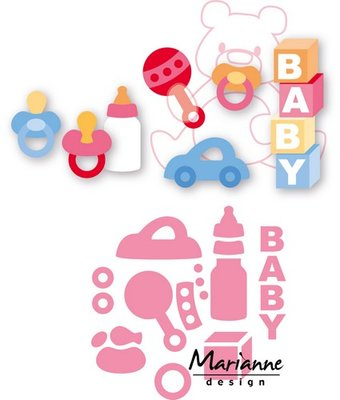 Marianne Design Collectable - Eline's Baby Essentials COL1421