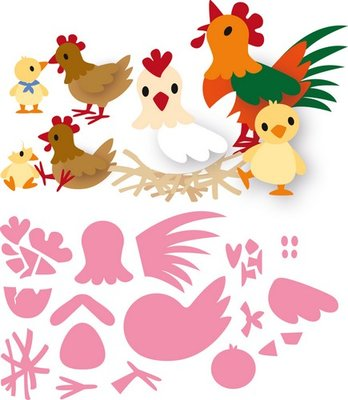 Marianne Design Collectable - Eline's Chicken Family COL1429