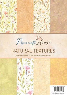 Wild Rose Studio Paper Pack A4 - Natural Textures PH007 SALE