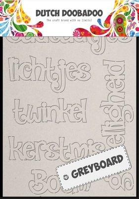 Greyboard Dutch Doobadoo  - Kerst 492.002.004