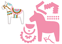 Marianne Design Collectable - Eline's Dala Horse COL1371