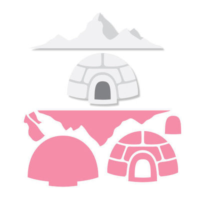 Marianne Design Collectable - Eline's Igloo & Mountains COL1417