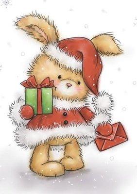 Wild Rose Studio Stempel - Christmas Bunny CL511 SALE