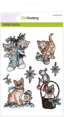 CraftEmotions Clearstamp - Christmas Pets 2 SALE