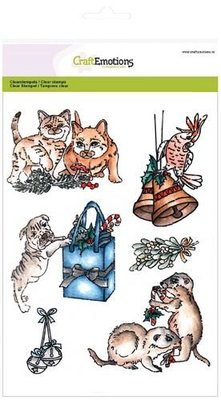 CraftEmotions Clearstamp - Christmas Pets 3 SALE