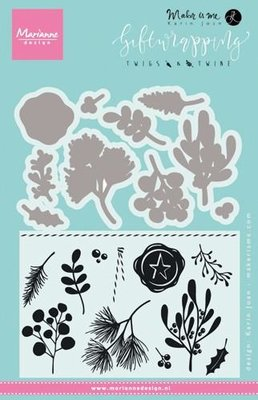 Marianne Design Stamp - Giftwrapping Twigs & Twine KJ1715