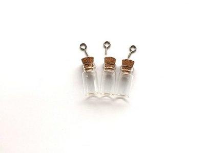 Mini Flesjes Rond met Kurk & Schroef 11 x 12 mm - 12423-2301
