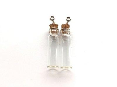 Mini Flesjes Rond met Kurk & Schroef 12 x 40 mm - 12423-2304