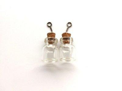 Mini Flesjes Rond met Kurk & Schroef 15 x 22 mm - 12423-2302