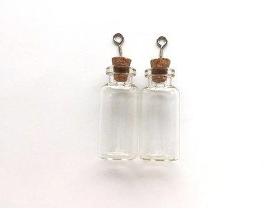 Mini Flesjes Rond met Kurk & Schroef 18 x 40 mm - 12423-2305