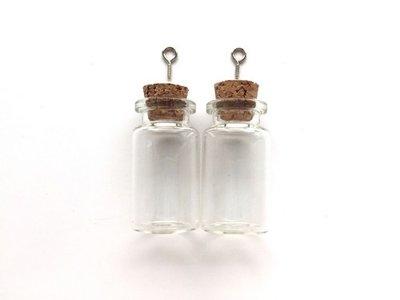 Mini Flesjes Rond met Kurk & Schroef 22 x 40 mm - 12423-2307