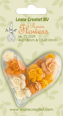 Leane Creatief Resin Flower Roses - Yellow 72.2229