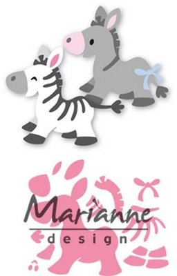 Marianne Design Collectable - Eline's Zebra & Donky COL1447